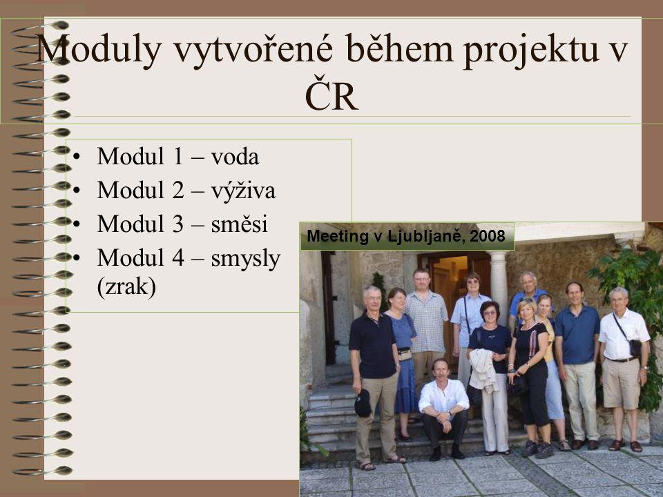 Moduly vytvořené během projektu v ČR