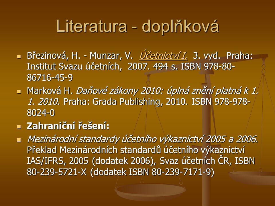 Literatura - doplňková