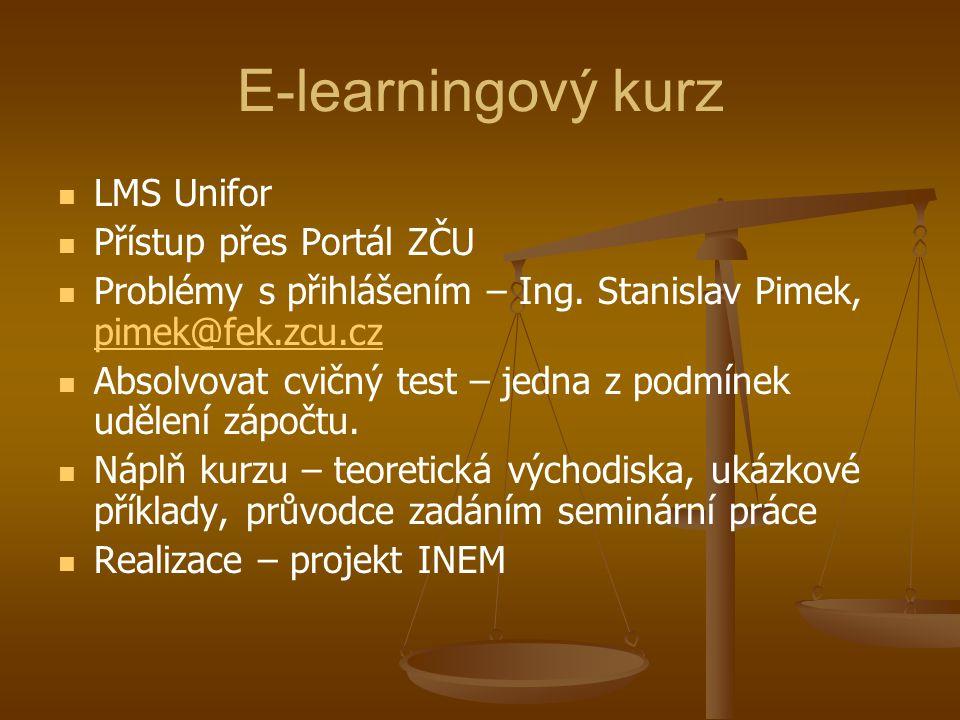 E-learningový kurz LMS Unifor Přístup přes Portál ZČU