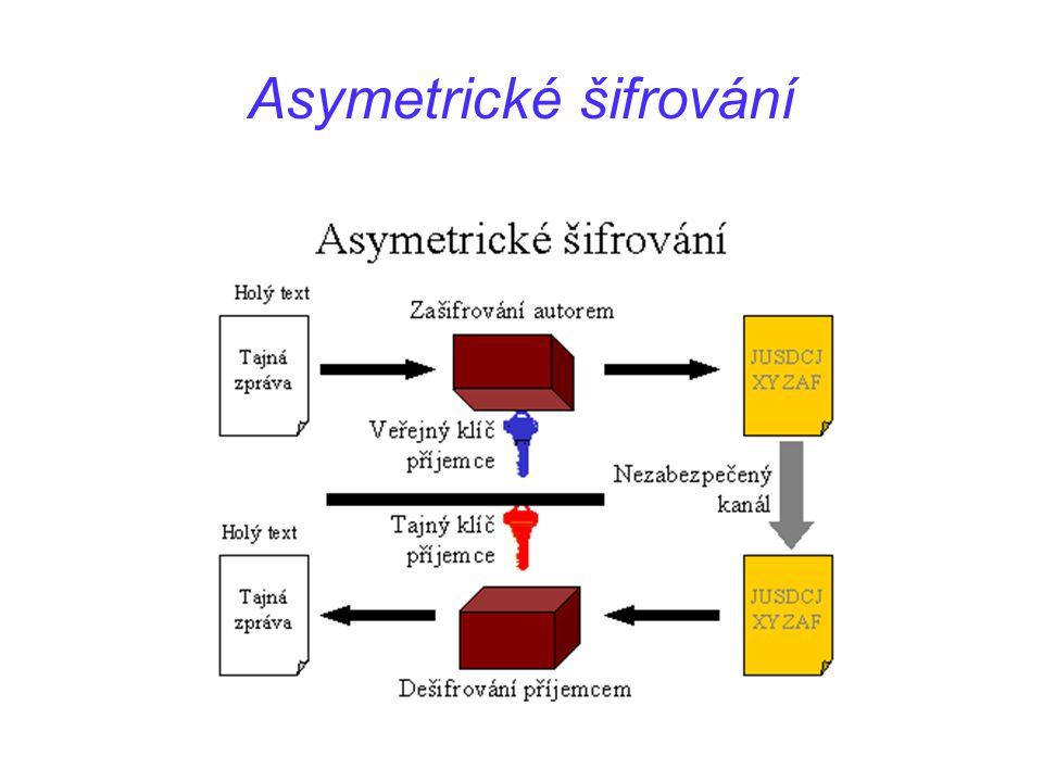 Asymetrické šifrování