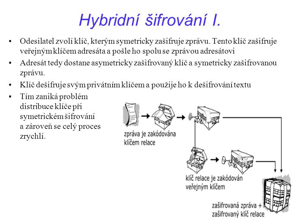 Hybridní šifrování I.