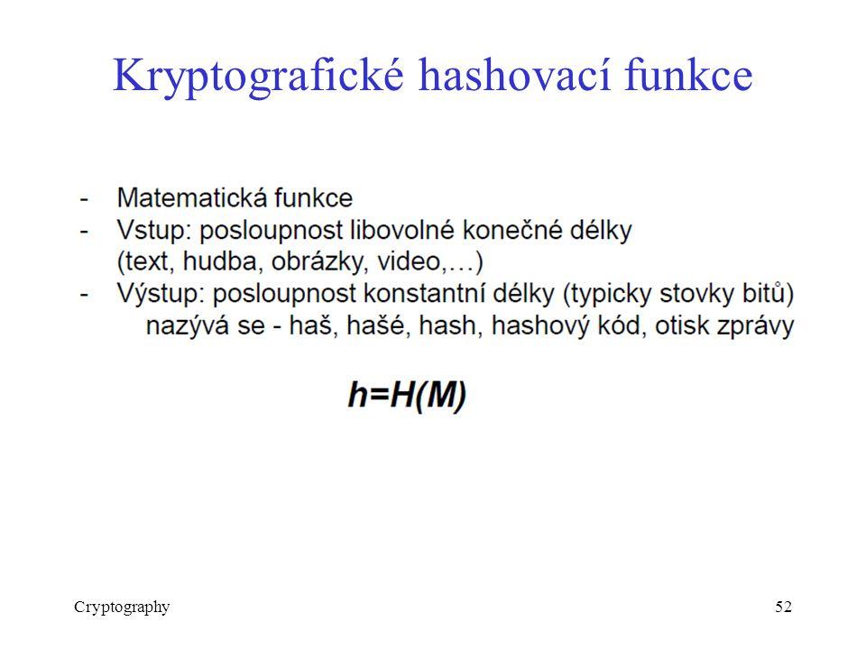 Kryptografické hashovací funkce