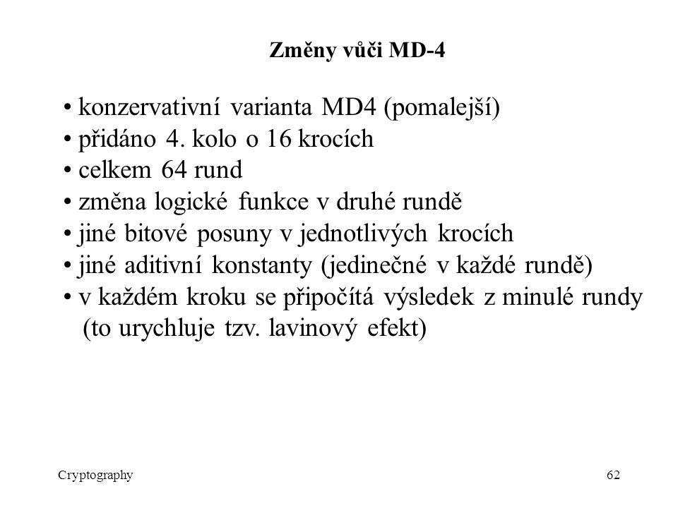 • konzervativní varianta MD4 (pomalejší)