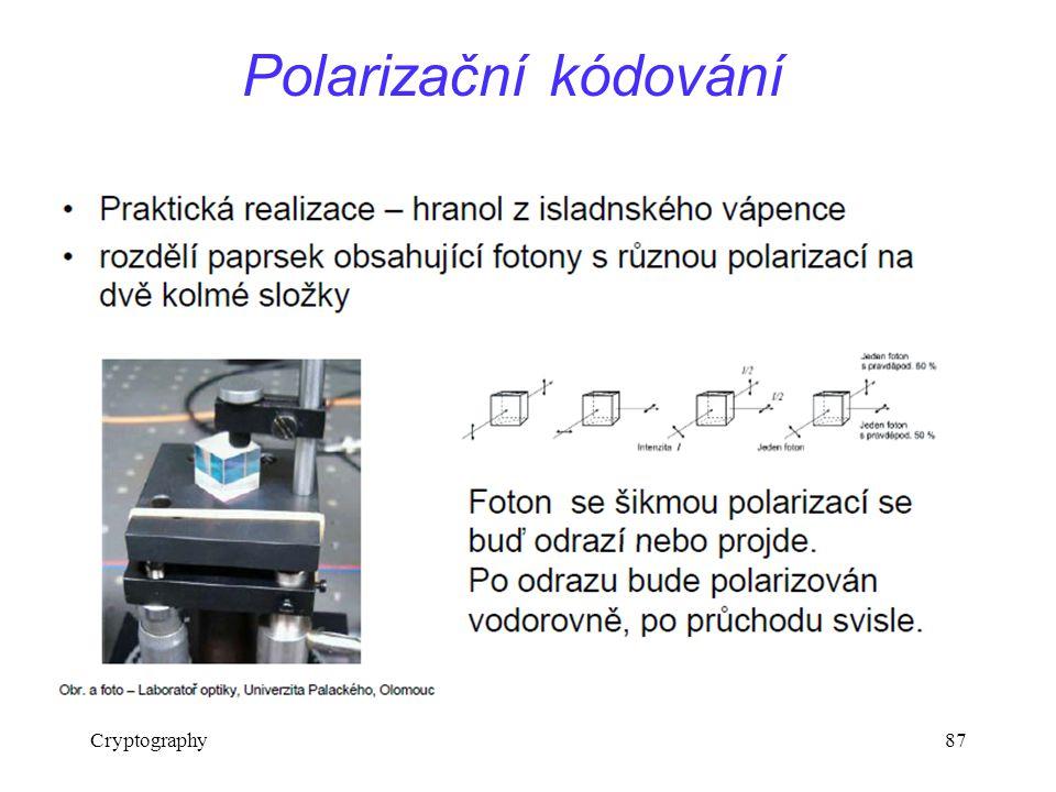 Polarizační kódování Cryptography