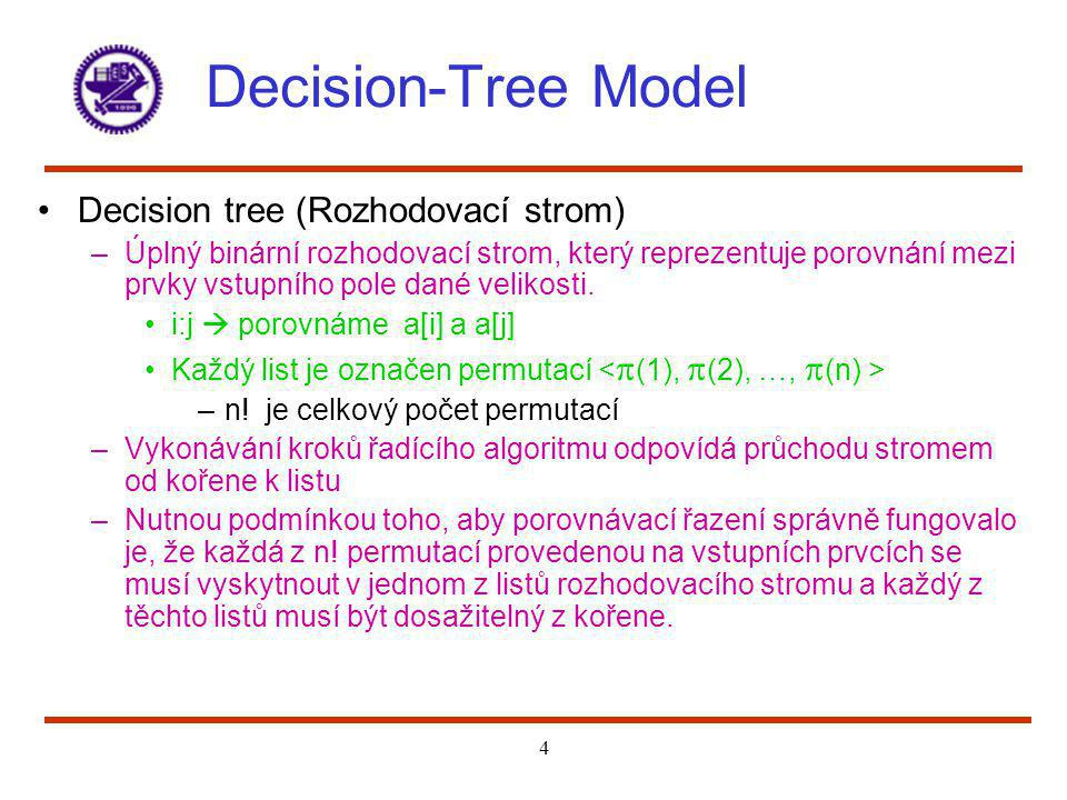 Decision-Tree Model Decision tree (Rozhodovací strom)