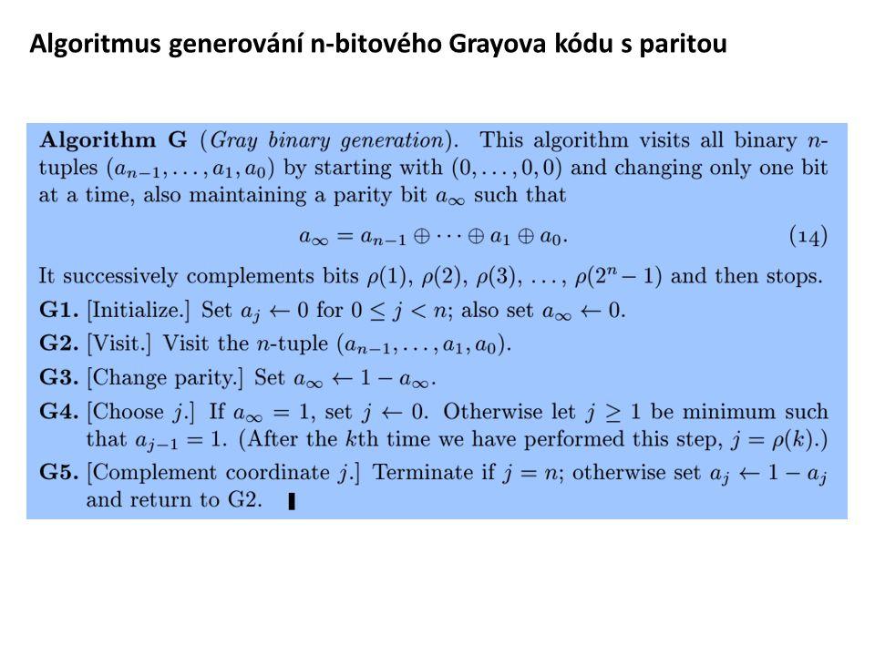Algoritmus generování n-bitového Grayova kódu s paritou