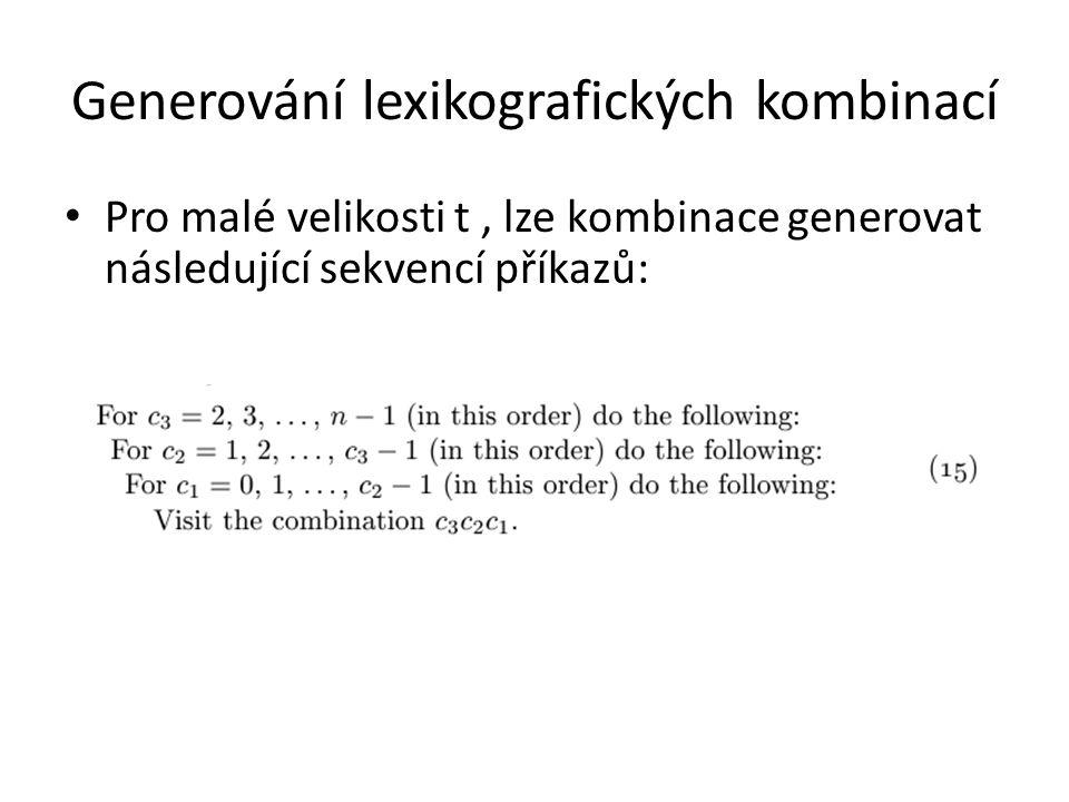Generování lexikografických kombinací