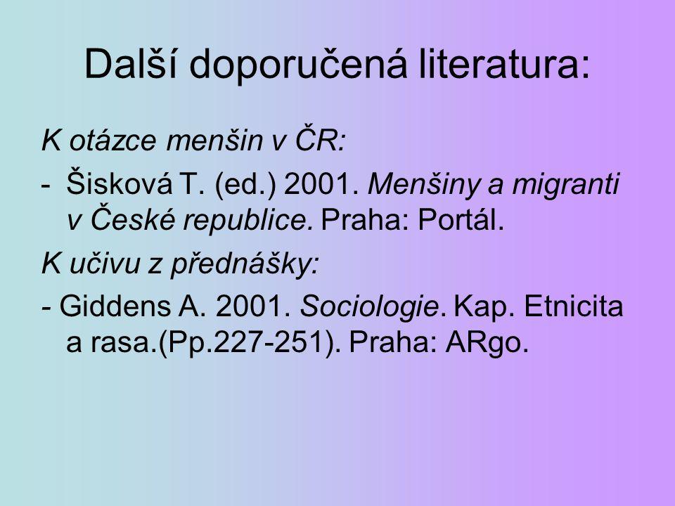 Další doporučená literatura: