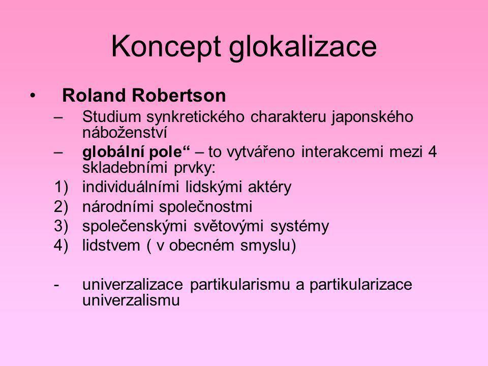Koncept glokalizace Roland Robertson
