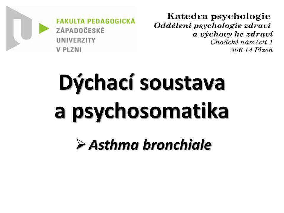 Dýchací soustava a psychosomatika