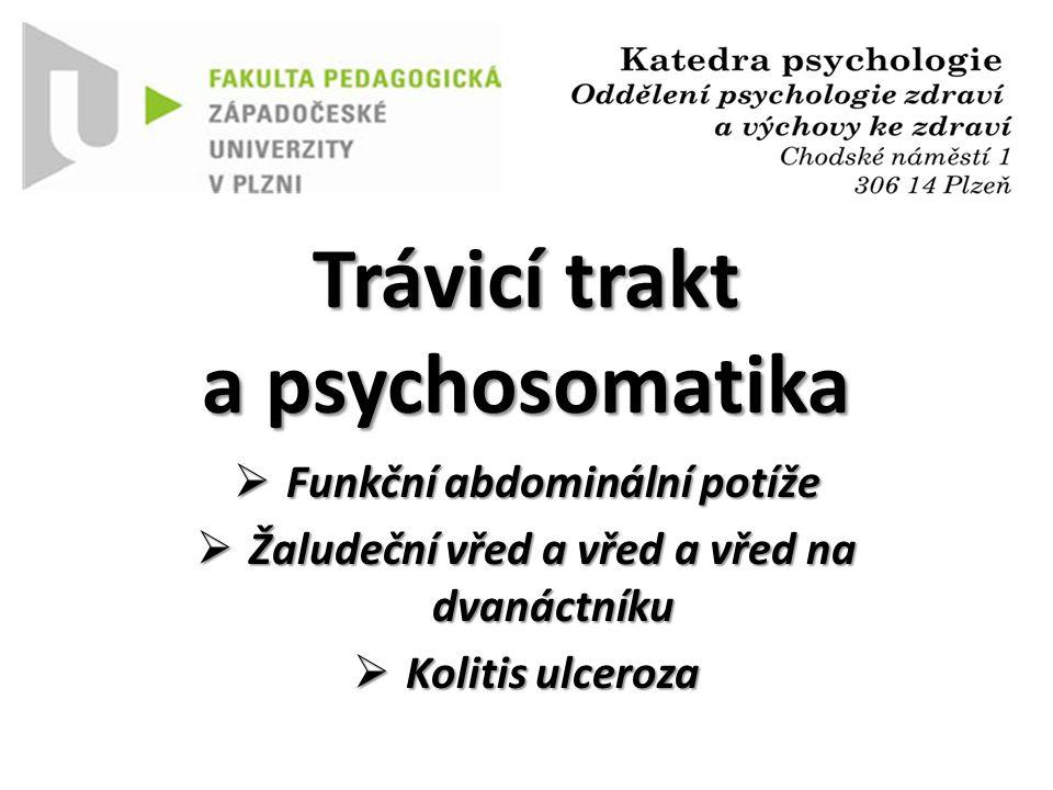 Trávicí trakt a psychosomatika