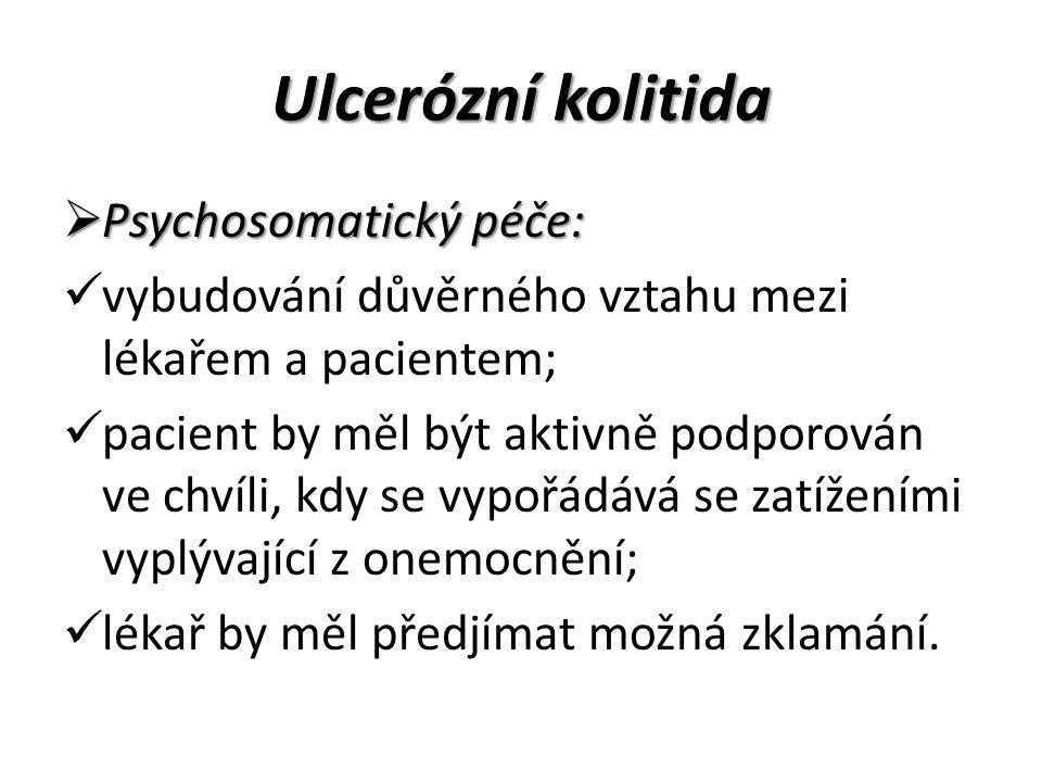 Ulcerózní kolitida Psychosomatický péče: