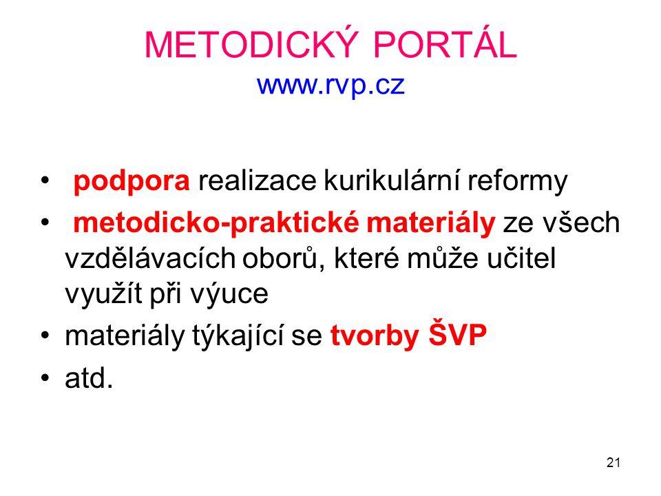 METODICKÝ PORTÁL www.rvp.cz