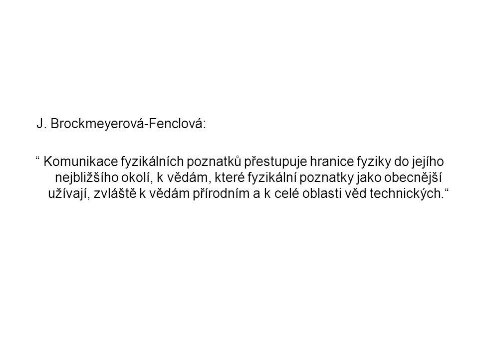 J. Brockmeyerová-Fenclová: