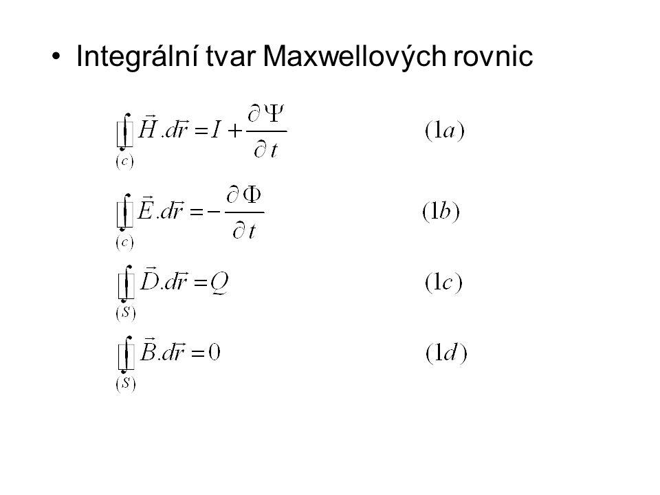 Integrální tvar Maxwellových rovnic