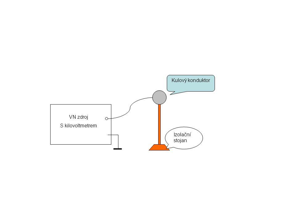 Kulový konduktor Izolační stojan VN zdroj S kilovoltmetrem