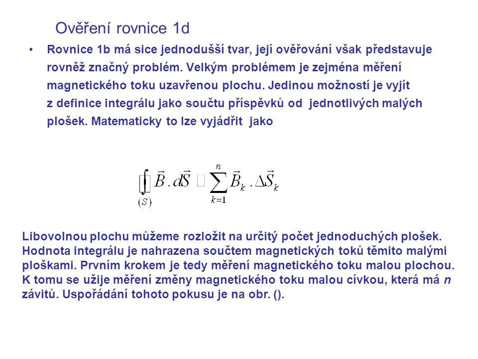 Ověření rovnice 1d