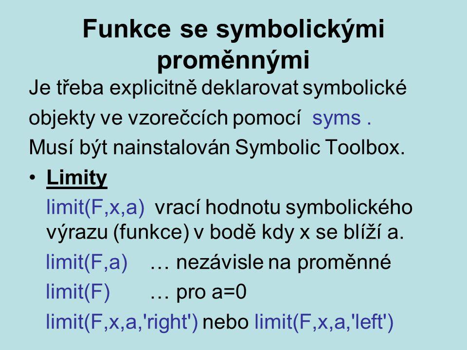 Funkce se symbolickými proměnnými