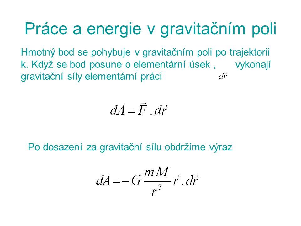 Práce a energie v gravitačním poli