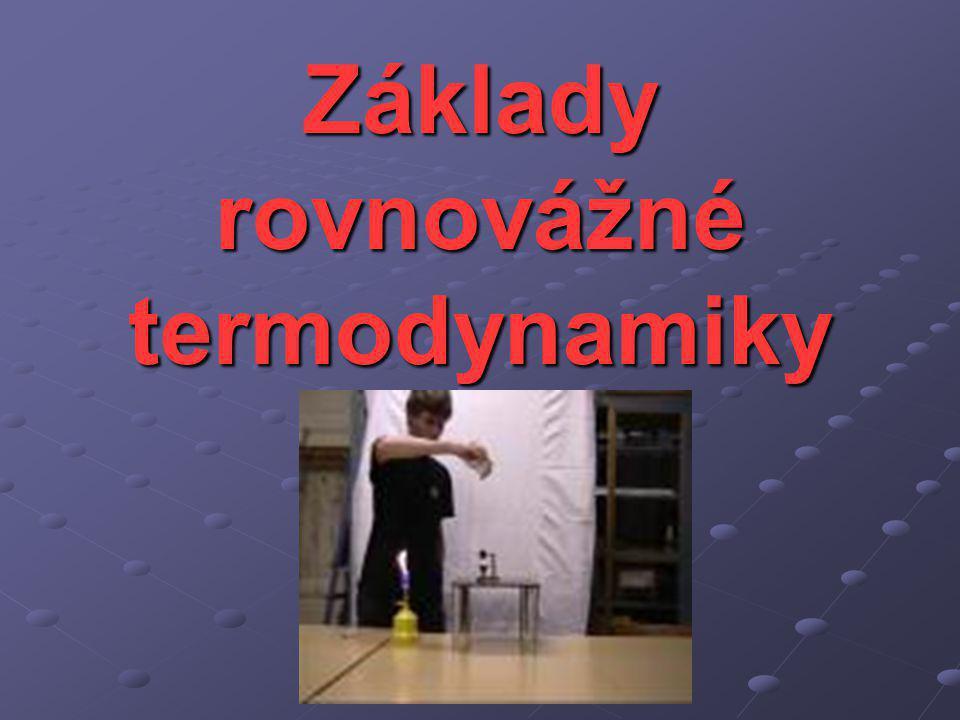 Základy rovnovážné termodynamiky