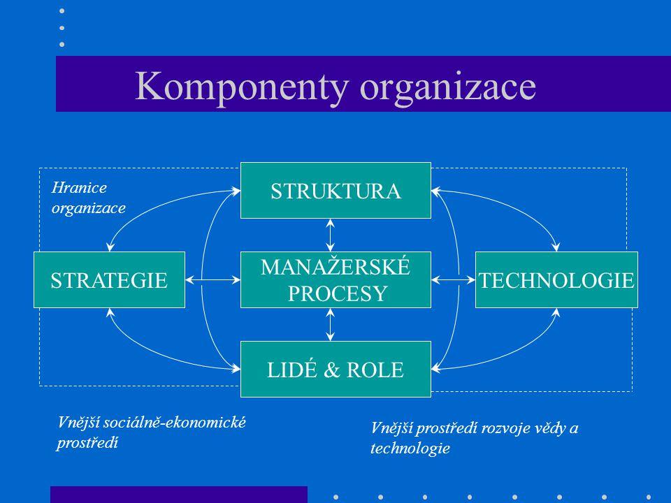 Komponenty organizace
