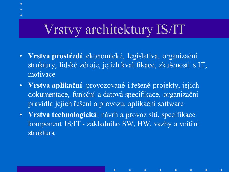 Vrstvy architektury IS/IT