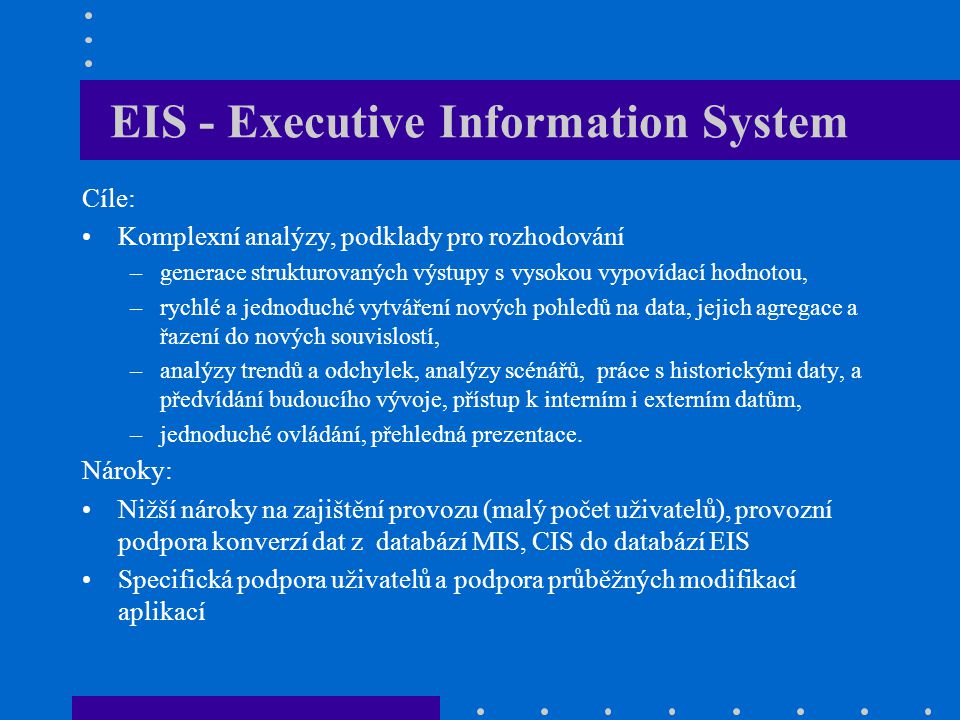 EIS - Executive Information System
