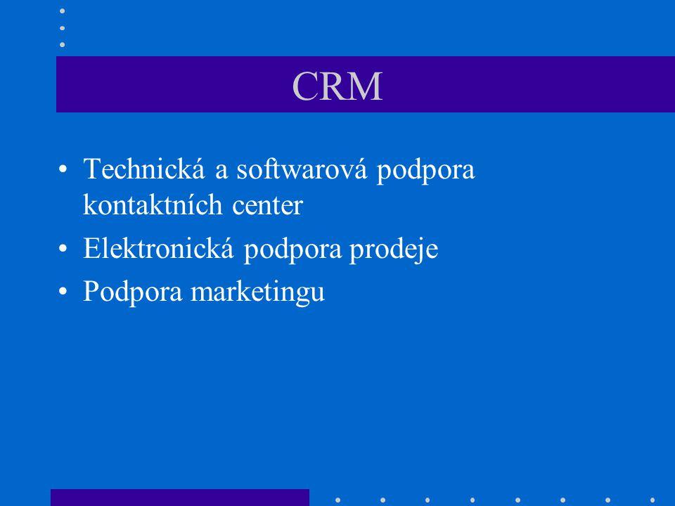 CRM Technická a softwarová podpora kontaktních center