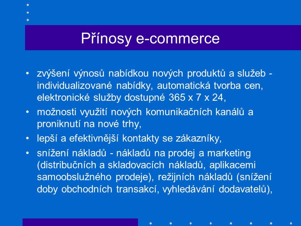Přínosy e-commerce