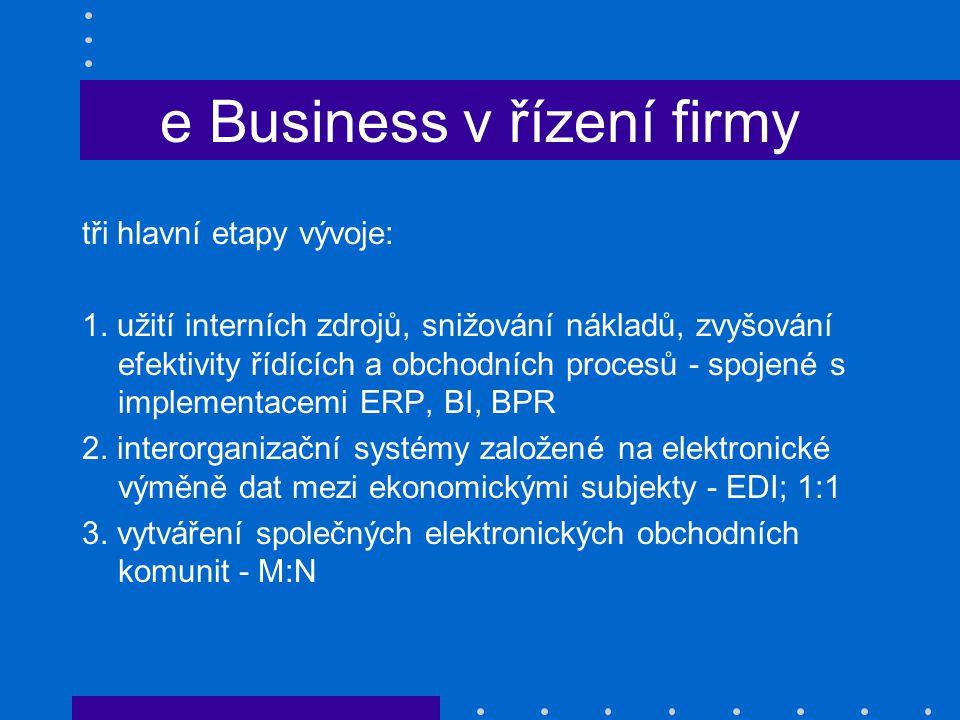 e Business v řízení firmy