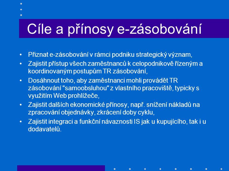 Cíle a přínosy e-zásobování