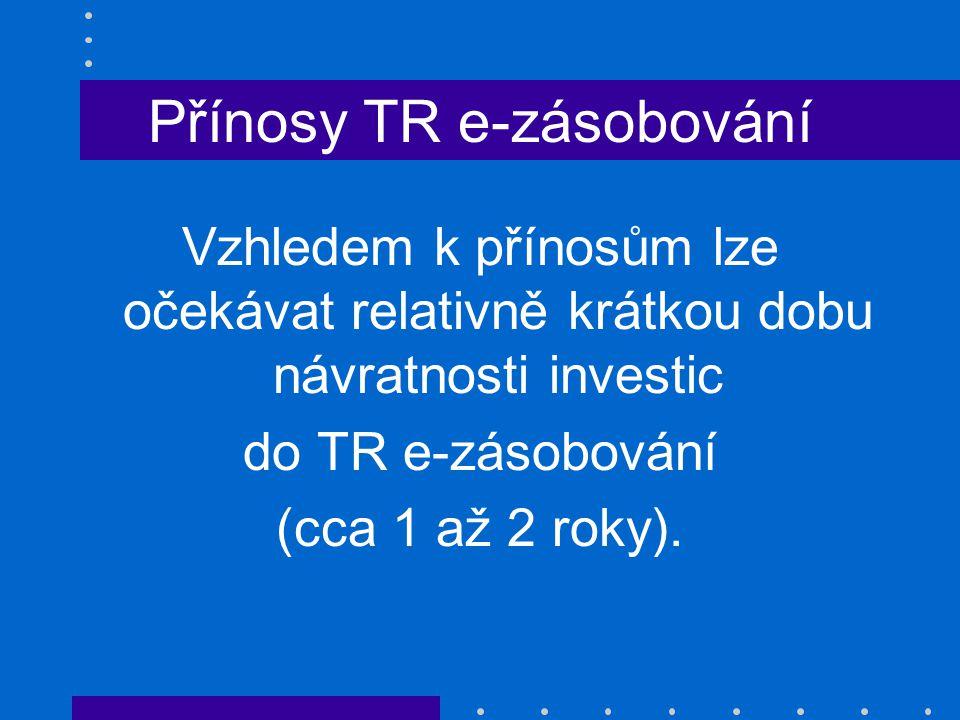 Přínosy TR e-zásobování