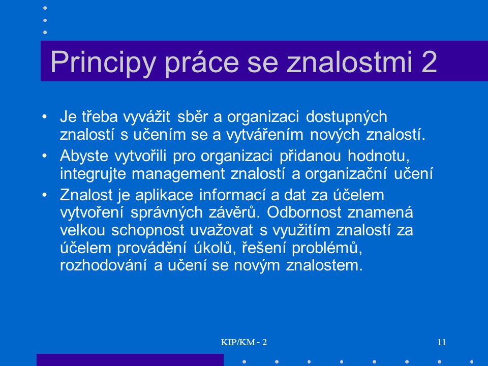 Principy práce se znalostmi 2