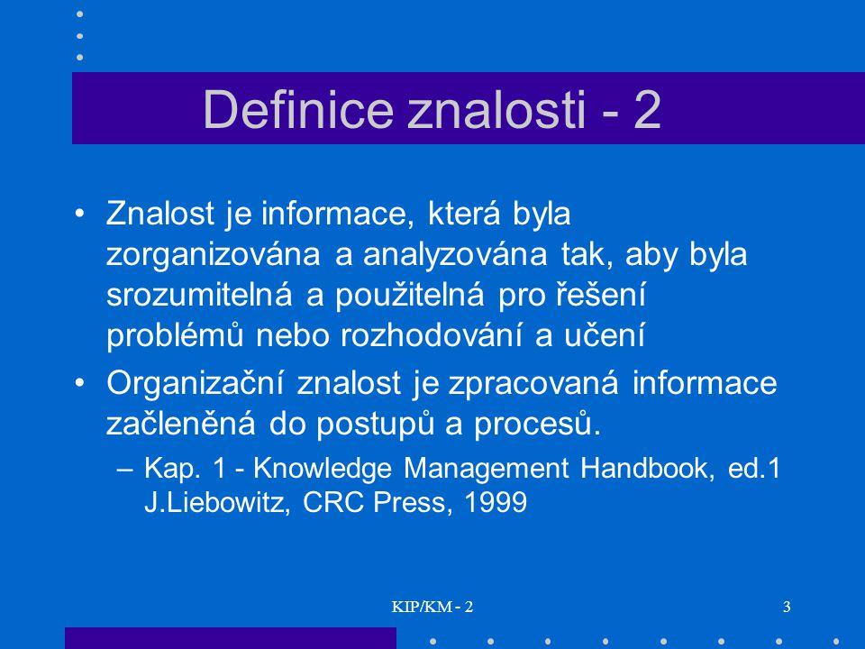 Definice znalosti - 2