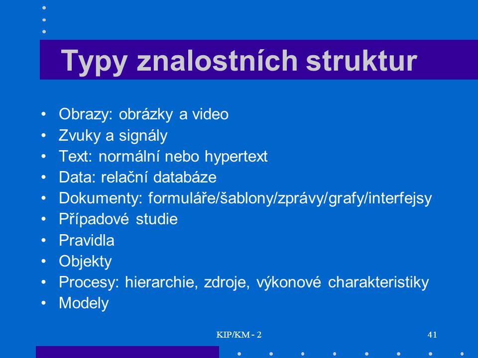Typy znalostních struktur
