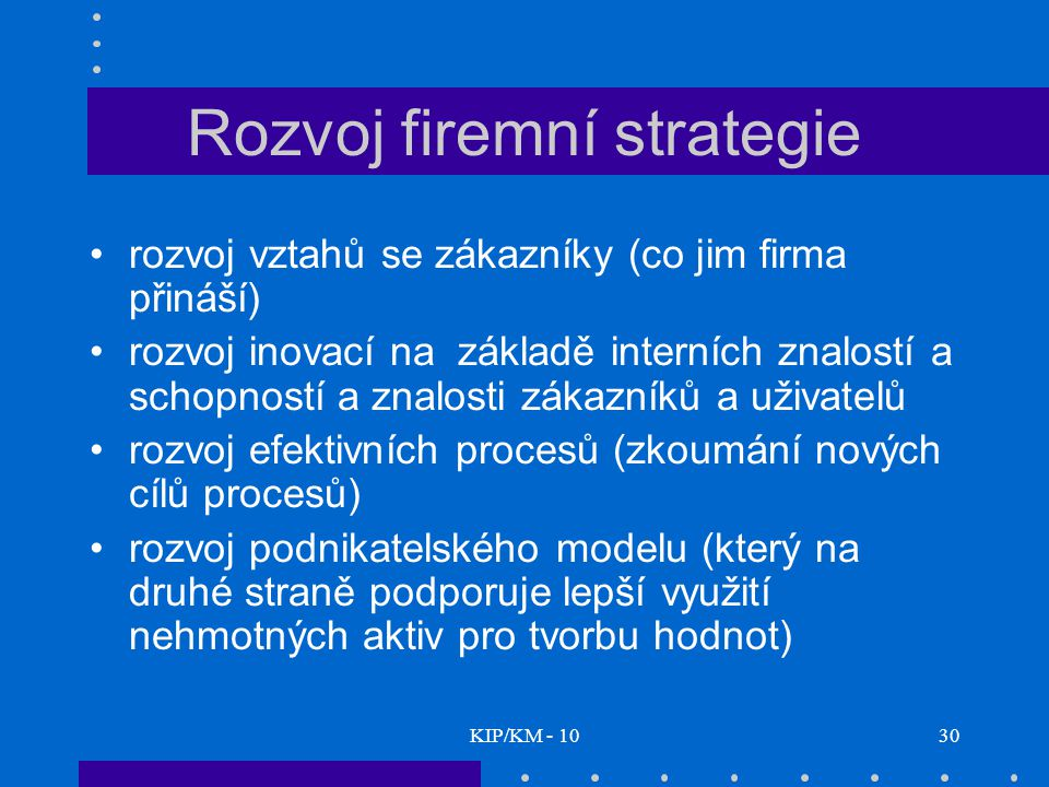 Rozvoj firemní strategie