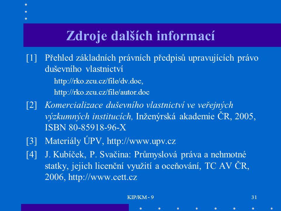 Zdroje dalších informací