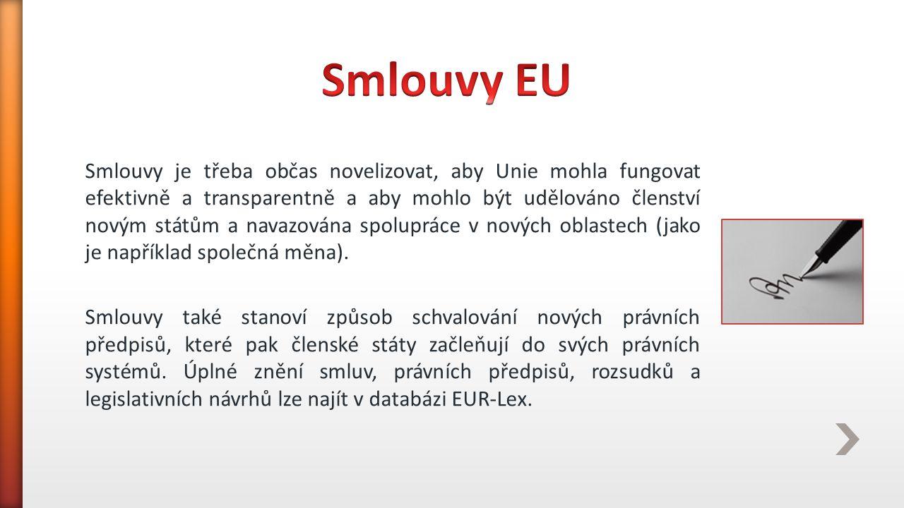 Smlouvy EU