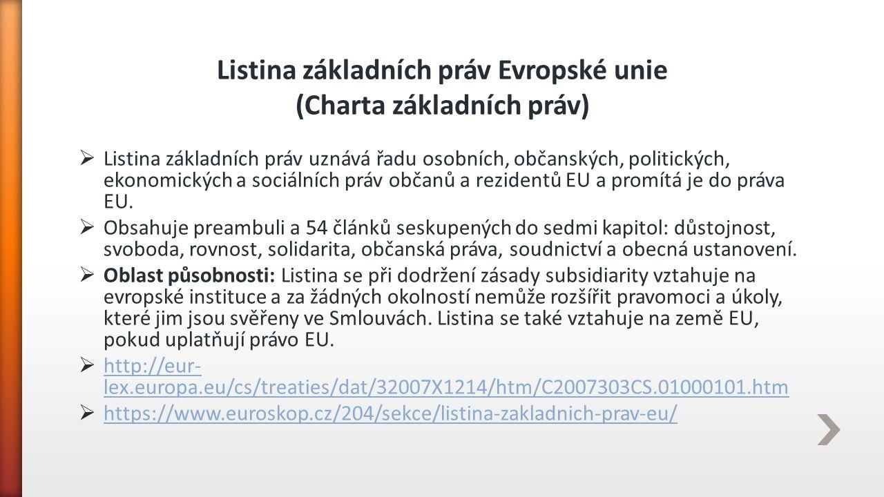 Listina základních práv Evropské unie (Charta základních práv)