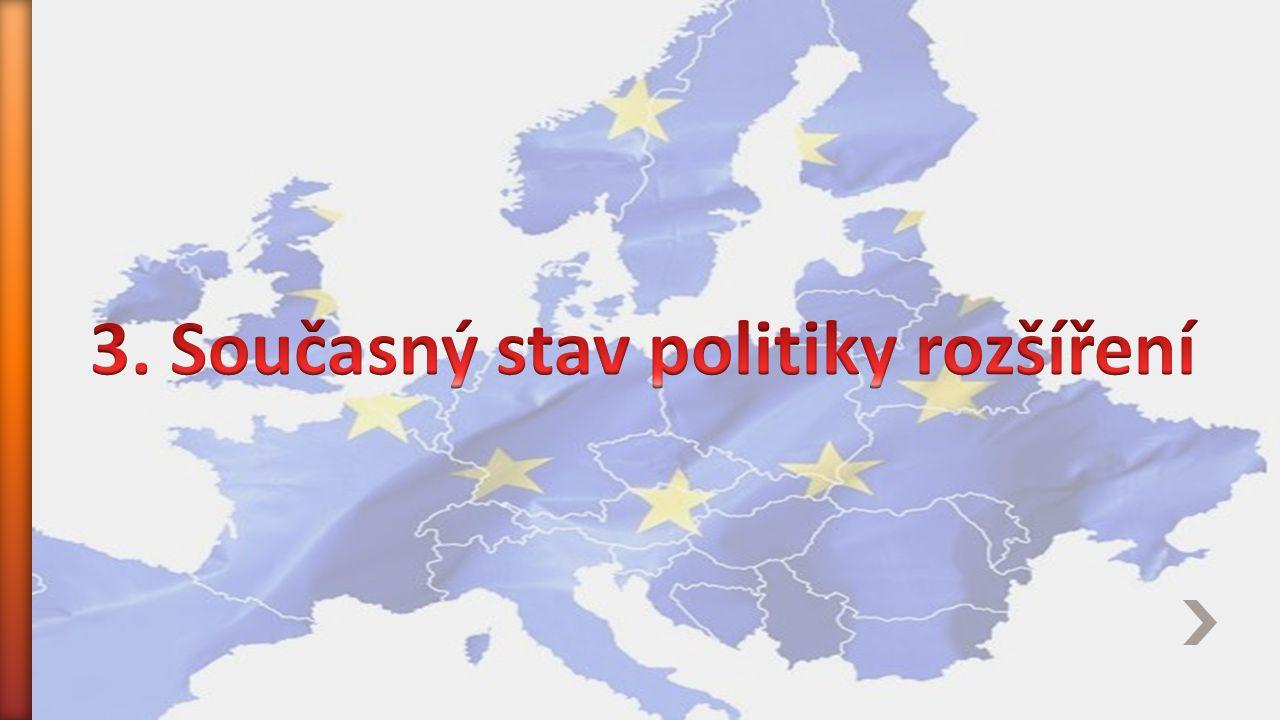 3. Současný stav politiky rozšíření