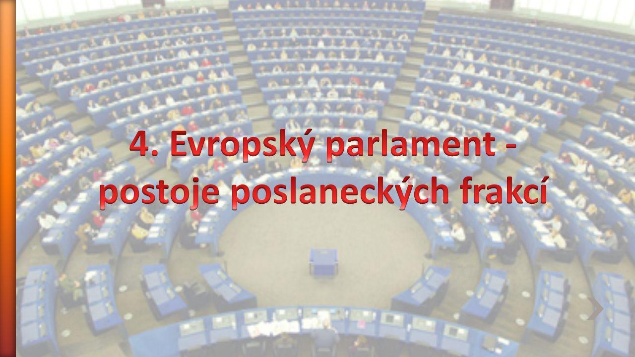4. Evropský parlament - postoje poslaneckých frakcí
