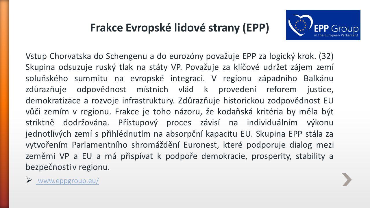 Frakce Evropské lidové strany (EPP)
