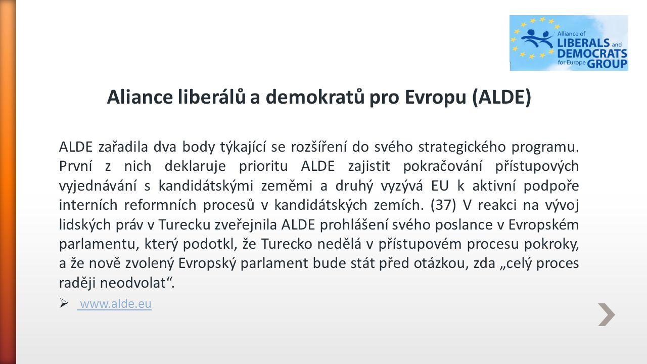 Aliance liberálů a demokratů pro Evropu (ALDE)
