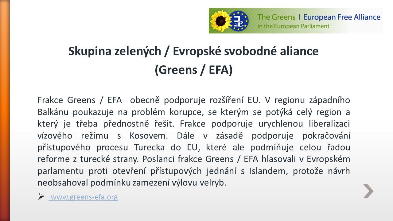 Skupina zelených / Evropské svobodné aliance