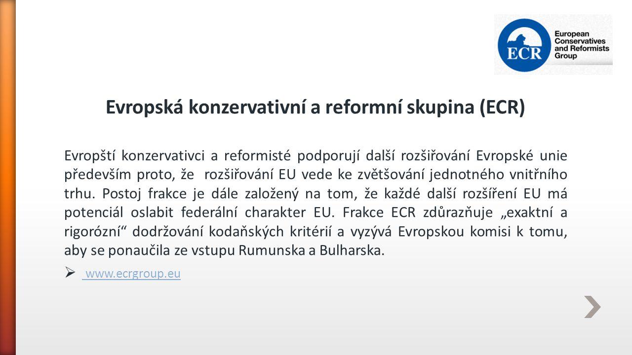 Evropská konzervativní a reformní skupina (ECR)