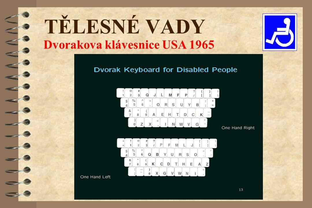 TĚLESNÉ VADY Dvorakova klávesnice USA 1965