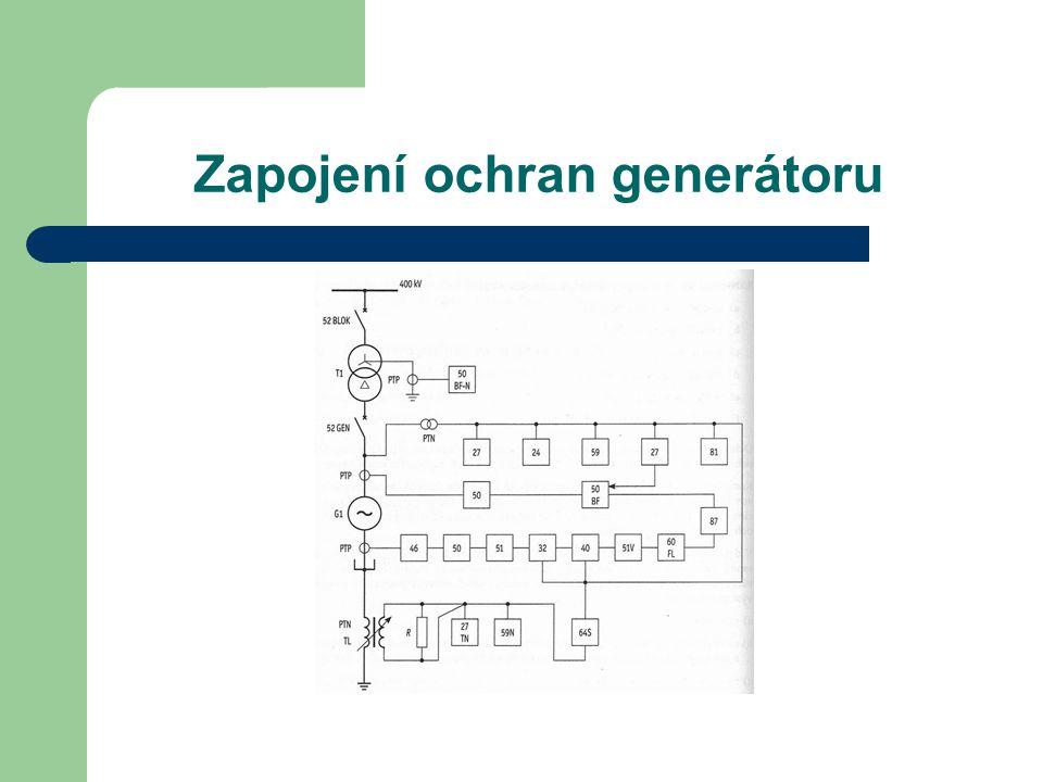 Zapojení ochran generátoru