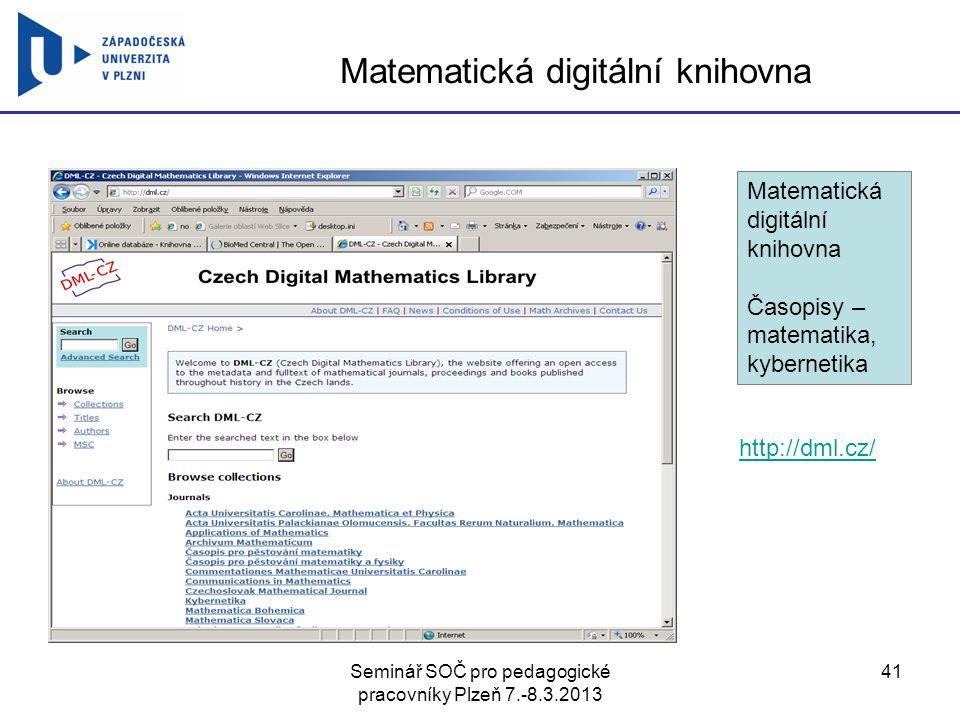 Matematická digitální knihovna