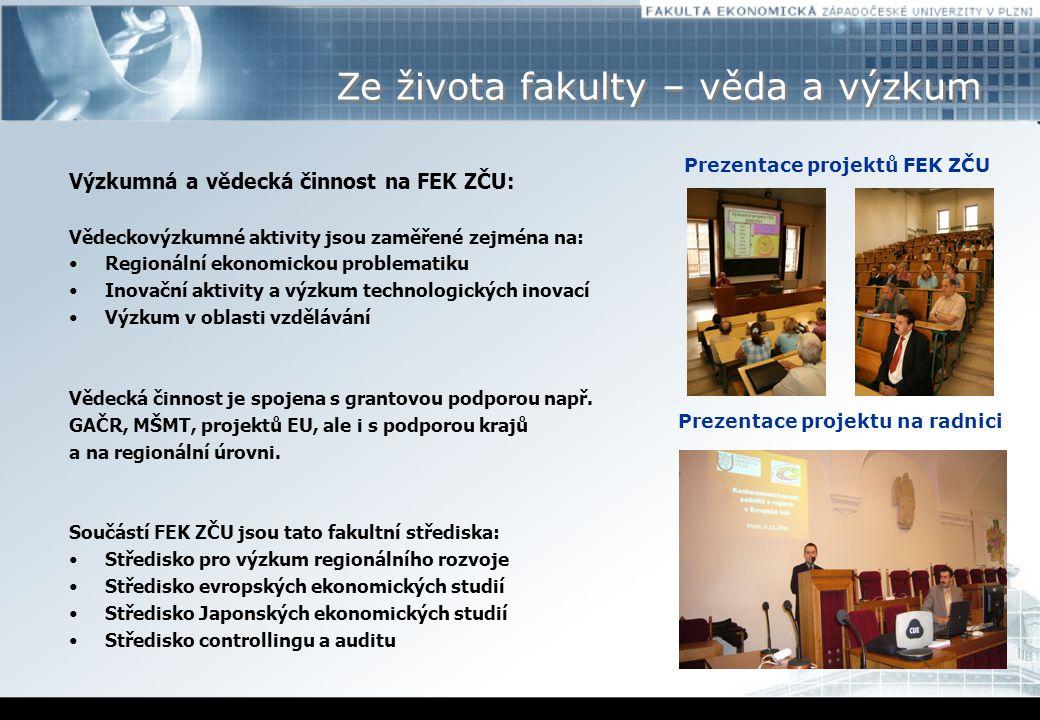 Prezentace projektů FEK ZČU Prezentace projektu na radnici