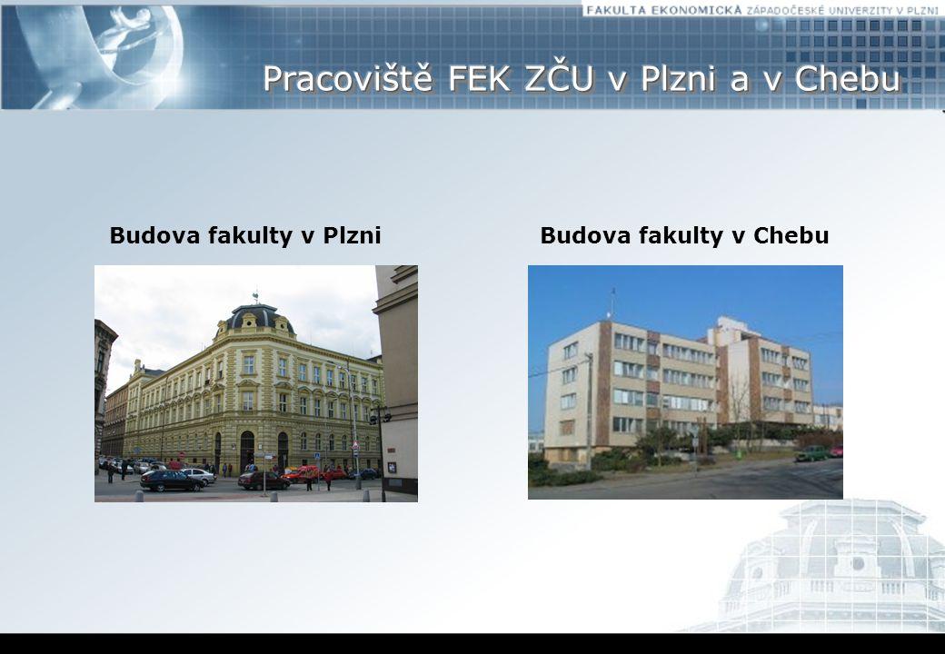 Pracoviště FEK ZČU v Plzni a v Chebu